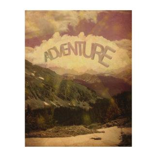 Abenteuer-Holz-Leinwand Holzdrucke