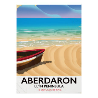 Aberdaron, Llŷn Halbinsel-Wales-Küstenplakat Poster