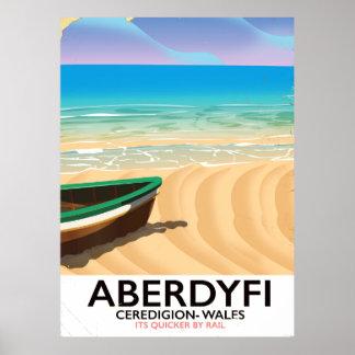 Aberdyfi, Ceredigion Wales Vintages Reiseplakat Poster