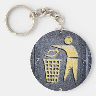Abfall Schlüsselanhänger