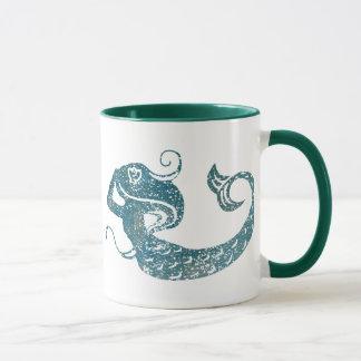 Abgenutzte Meerjungfrau Tasse