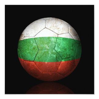 Abgenutzter bulgarischer Flaggen-Fußball-Fußball Quadratische 13,3 Cm Einladungskarte