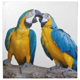 abgeschiedener Ara ararauna Papagei Stoffserviette