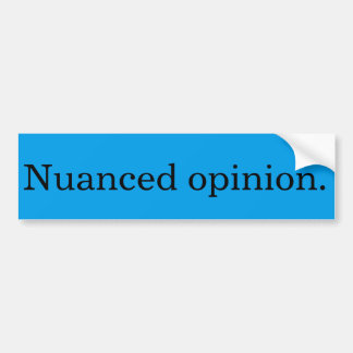 Abgestufter Meinungs-Autoaufkleber Autoaufkleber