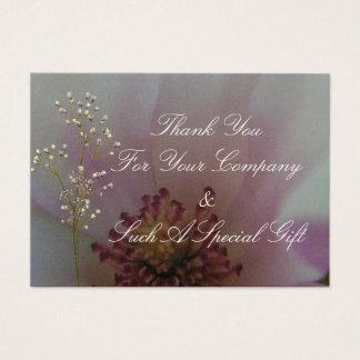 Abgetönte Herz-Hochzeits-Blume Jumbo-Visitenkarten