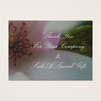 Abgetönte Herz-Hochzeits-Blume Visitenkarte