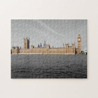 Abgetöntes Haus von Parlaments-London-Puzzlespiel Puzzle