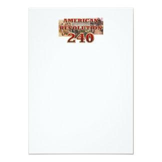ABH amerikanische Revolutions-240. Jahrestag 12,7 X 17,8 Cm Einladungskarte