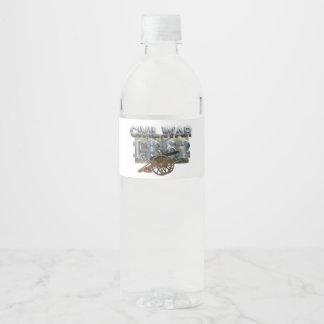 ABH ziviler Krieg 1862 Wasserflaschenetikett