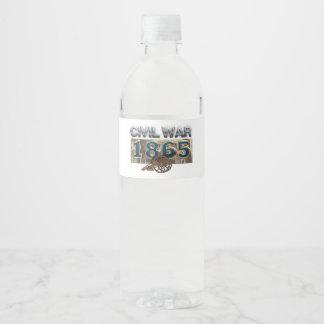 ABH ziviler Krieg 1865 Wasserflaschenetikett