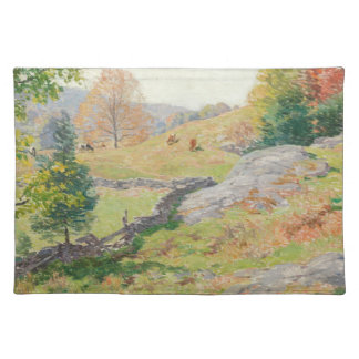Abhang-Weide im September - Willard Metcalf Tischset
