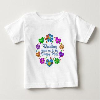 Ablesen meines glücklichen Platzes Baby T-shirt