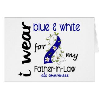 Abnutzung ALS I blau und Weiß für meinen Karte
