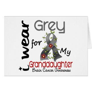 Abnutzungs-Grau des Hirntumor-I für meine Enkelin Karte