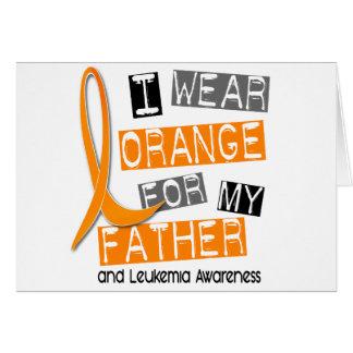 Abnutzungs-Orange der Leukämie-I für meinen Vater Karte