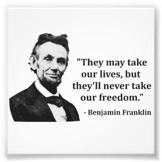 Abraham Lincoln-Schleppangel-Zitat Photo Druck