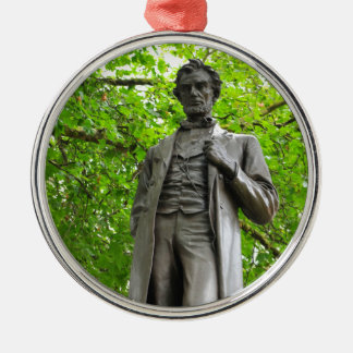 Abraham Lincoln Silbernes Ornament