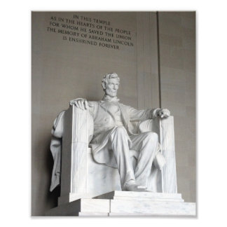 Abraham Lincoln-Statue Lincoln Memorial Washington Fotodruck