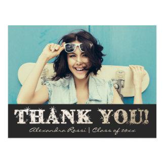 Abschluss danken Ihnen Gold der Postkarten-| Postkarten
