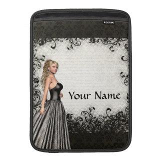 Abschlussballmädchen in einem schwarzen Kleid MacBook Air Sleeve