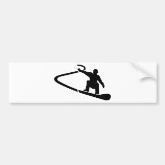 Abschüssiger Snowboarding Autoaufkleber