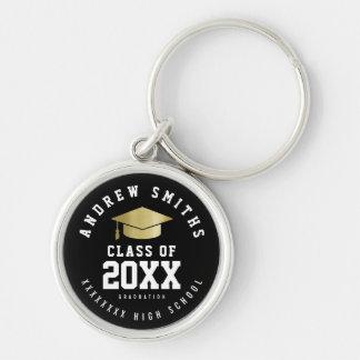 Absolvent schwarzes keychain mit Namen- und Schlüsselanhänger