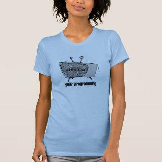 ABSORBIEREN Sie Ihr blaues Programmierungst-Stück T-Shirt