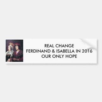 Abstimmung Ferdinand u. Isabella im Jahre 2016! Autoaufkleber