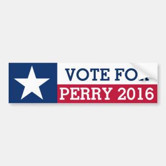 Abstimmung für Rick Perry Wahl-Texas-Flagge 2016 Autoaufkleber