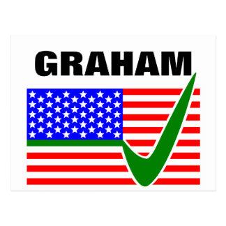 Abstimmung Lindsey Graham für Präsidenten 2016 Postkarte