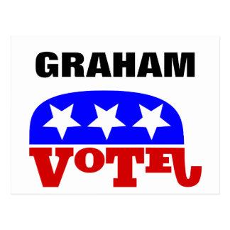 Abstimmung Lindsey Graham Republikaner-Elefant Postkarte