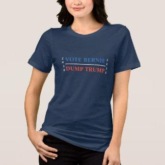Abstimmungs-Bernie-Dump-Trumpf T-Shirt