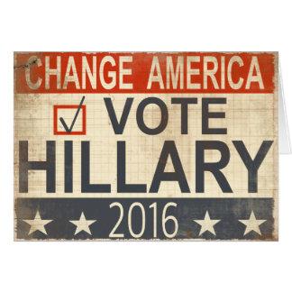 Abstimmungs-Hillary Clintonwahl-Grüße 2016 Karte