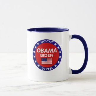 Abstimmungs-Tasse Obama Biden Tasse
