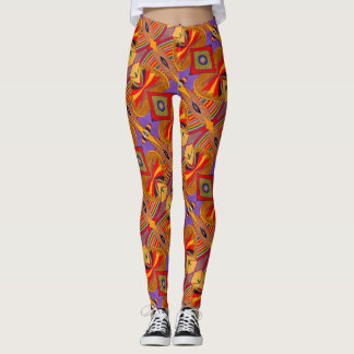 Abstract Warm Autumn - Leggings