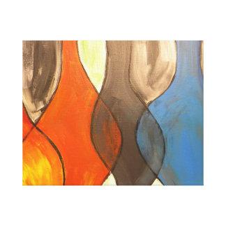 Abstrakt Galerie Gefaltete Leinwand