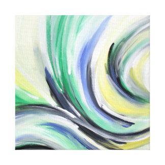 abstrakt, geschwungene Malerei Leinwanddruck