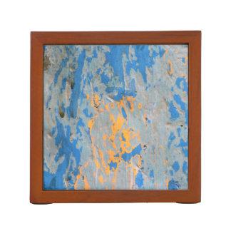 Abstrakt im blauen Schreibtisch-Organisator Stifthalter