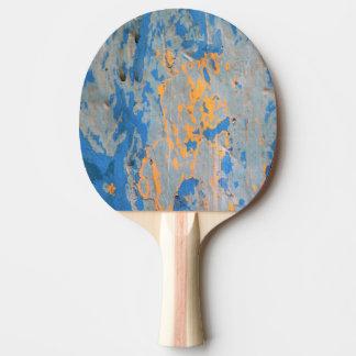 Abstrakt in blauem Ping Pong Paddel Tischtennis Schläger