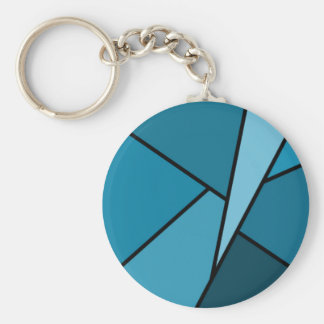 Abstrakte aquamarine Polygone Schlüsselanhänger