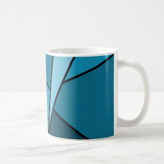 Abstrakte aquamarine Polygone Tasse