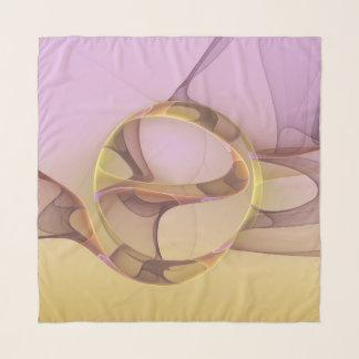 Abstrakte Bewegungs-moderne rosa goldene Schal
