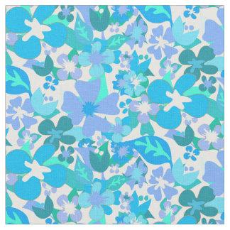Abstrakte blaue Blumen Stoff