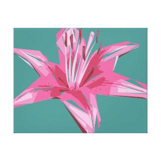 Abstrakte Blumensommer-Lilie Galerie Gefaltete Leinwand