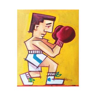 Abstrakte Boxermalerei auf Leinwand Gespannter Galerie Druck