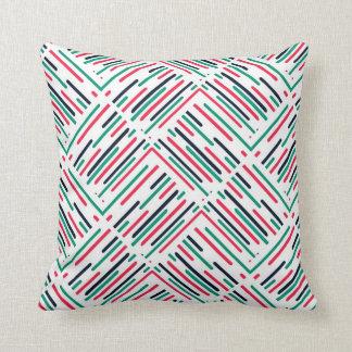 Abstrakte bunte Linien Muster Kissen
