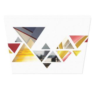 abstrakte Dreiecke Gespannter Galerie Druck