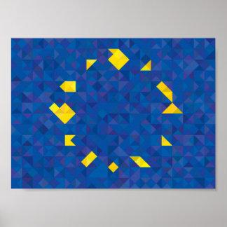 Abstrakte europäische Flagge, Europa-Plakat Poster