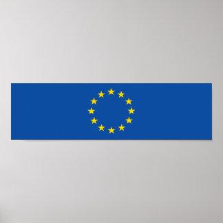 Abstrakte europäische Flagge, Europa Poster