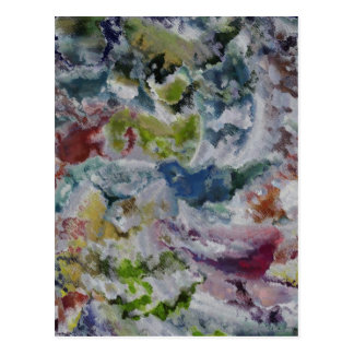 Abstrakte Farbe Postkarten